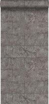 Origin behang kalkstenen blokken taupe - 347582 - 53 cm x 10.05 m