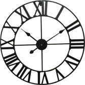 Wall Clock 60 cm Analogue Black