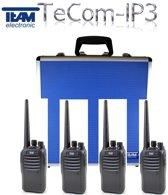 Team Tecom IP3 4-voudige koffer-portofoonset