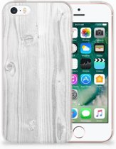 iPhone SE | 5S TPU Hoesje Design White Wood