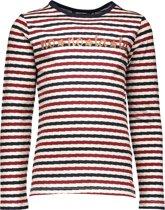 NONO Meisjes T-Shirt met lange mouw - White - Maat 122/128