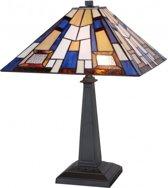 A TIFFANY STYLE Tafellamp Mondriaan