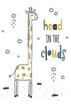 Head in the clouds: Notebook with giraffe