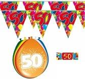 2x 50 jaar vlaggenlijn + ballonnen