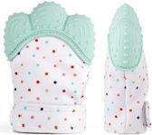 Chewiez® - Bijthandschoen - Pastel Groen - Bijt - speelgoed - handschoen - bijtring - speelgoed - kraamcadeau
