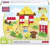 Mega Bloks First Builders Barnyard Buddies 40-delig