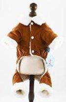 Lekker warm huispak in de kleur bruin