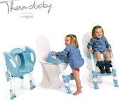 Thermobaby Kiddyloo Toilettrainer met trapje UITVERKOOP - Myosotis blauw en wit