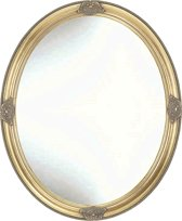 Klassieke Ovale Spiegel Morris Buitenmaat 38x48cm Goud