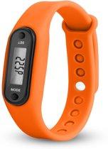 Digitale LCD Stappenteller - calorie - loopafstand - steps - teller - stappenteller - Oranje