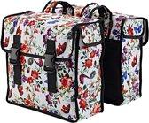 Basil Mara Xl Double Bag - Fietstas - Achterop - Waterafstotend polyester - Meadow
