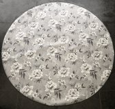 Palace Fashion Tafelzeil - Rond 160 cm - Flowers - White Grey