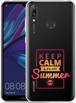 Huawei Y7 2019 Hoesje Summer Time
