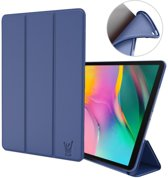 Samsung Galaxy Tab A 10.1 2019 Hoes - Smart Book Case Siliconen Hoesje - iCall - Blauw