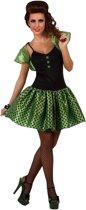 Outfit jaren 60 retro groen voor dames - Verkleedkleding - XL