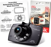 Dashcam Black Diamond, bundel incl. Sandisk 16Gb Ultra Micro Sd kaart en Nederlandse handleiding