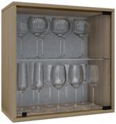 Wijnkast vitrinekastje Weino V modulair samen te stellen sonoma eiken