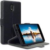 Qubits slim wallet zwart hoes Nokia 3