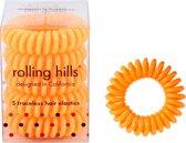 Rolling Hills 5 traceless hair elastics challenger orange