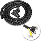Kabelslang / Kabelgeleider / 3 meter met montagetool / rijgtool - Kabelbeschermer zwart