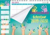 Family planner 2019-2020 - Schoolperiode - 1 juli 2019 t/m 1 augustus 2020 - 6 Personen - Handjes - 34 x 24,5 cm