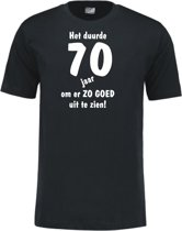 Mijncadeautje - Leeftijd T-shirt - Het duurde 70 jaar - Unisex - Zwart (maat XL)