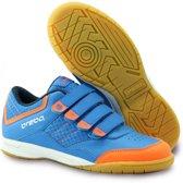 Brabo Klittenband Indoor  Sportschoenen - Maat 33 - Unisex - blauw/oranje