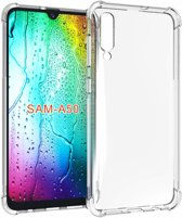 Ntech Samsung Galaxy A50 Transparent Anti Burst Hoesje / Shock Proof Crystal Clear TPU Case