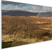 Prachtige regenboog in de vallei in Glen Coe Plexiglas 180x120 cm - Foto print op Glas (Plexiglas wanddecoratie) XXL / Groot formaat!