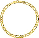 The Jewelry Collection - Herenarmband - Figaro - 4,4 mm - Geelgoud - 20 cm