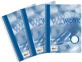 Work spiraalblok formaat A4 70 g gelijnd 200 bladzijden 1 stuk