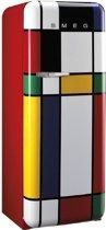 Smeg FAB28RDMC Vrijstaand 248l A++ Multi kleuren combi-koelkast