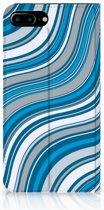 Apple iPhone 7 Plus | 8 Plus Standcase Hoesje Design Waves Blue