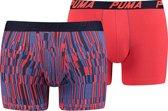 Puma - Heren 2-Pack Boxershort Blauw Rood - XL