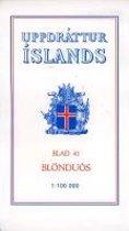 Topographische Karte Island 43 Blonduos 1 : 100 000
