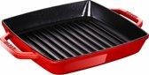 Staub grillpan met 2 grepen - 23 x 23 cm - kers
