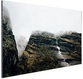Bergen in de mist  Nepal Aluminium 60x40 cm - Foto print op Aluminium (metaal wanddecoratie)