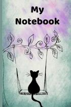 My Notebook: Lined and blank page notebook for cat lovers of all ages
