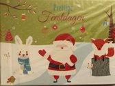 Kerstkaarten 14 stuks 15 x 10,5 cm dieren kerst kaarten