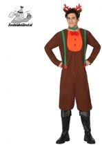 Kostuum Rendier man-Maat:M-L