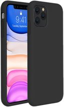 iPhone 11 Pro Max Hoesje Siliconen Case Hoes Back Cover TPU - Zwart