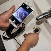 Mini endoscoop - Inspectiecamera 7mm lens / 2m kabel - USB (NIET GESCHIKT VOOR IPHONE/ IOS SYSTEMEN)