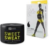 Sweet Sweat Jar & Waist Trimmer Geel Combo