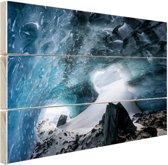 Gletsjergrot Hout 80x60 cm - Foto print op Hout (Wanddecoratie)