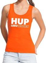 Nederland supporter tanktop / mouwloos shirt Hup LeeuWinnen oranje dames - landen kleding L