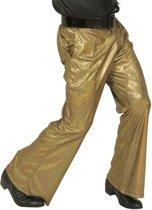 Goudkleurige glitter disco broek voor mannen - Verkleedkleding - Maat XL