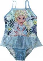 Frozen badpak met Elsa - maat 110 - 5 jaar - lichtblauw