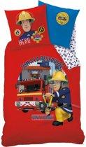 Brandweerman Sam Fire - Dekbedovertrek - Eenpersoons - 140 x 200 cm - Rood