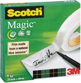 5x Scotch plakband Magic  Tape 25mmx66 m