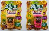 Slimy Fruity Roze & Oranje set van 2 - Slijm